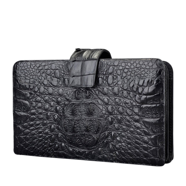 Black Croc Clutch Wallet
