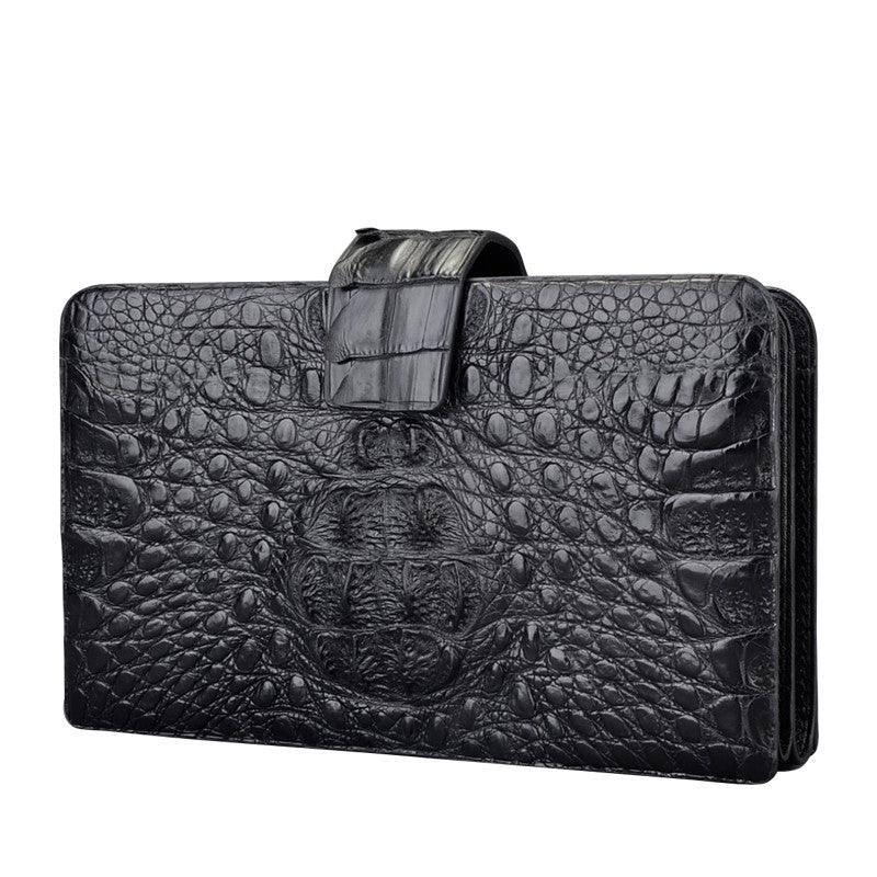 Black Croc Clutch Wallet - jranter