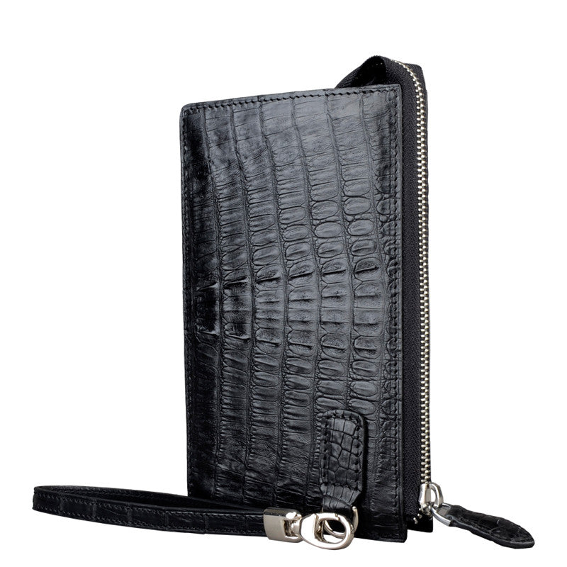 Men Crocodile Clutch Wallet - jranter