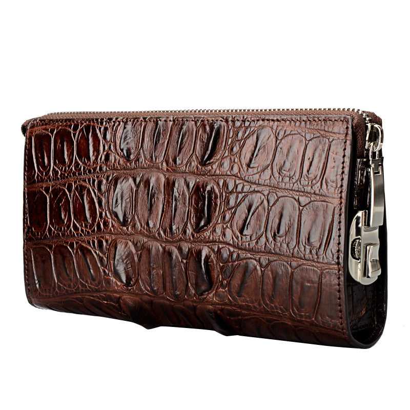 Men Real Croc Skin Clutch Wallet - jranter