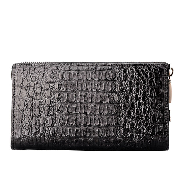 Men Real Croc Skin Clutch Wallet