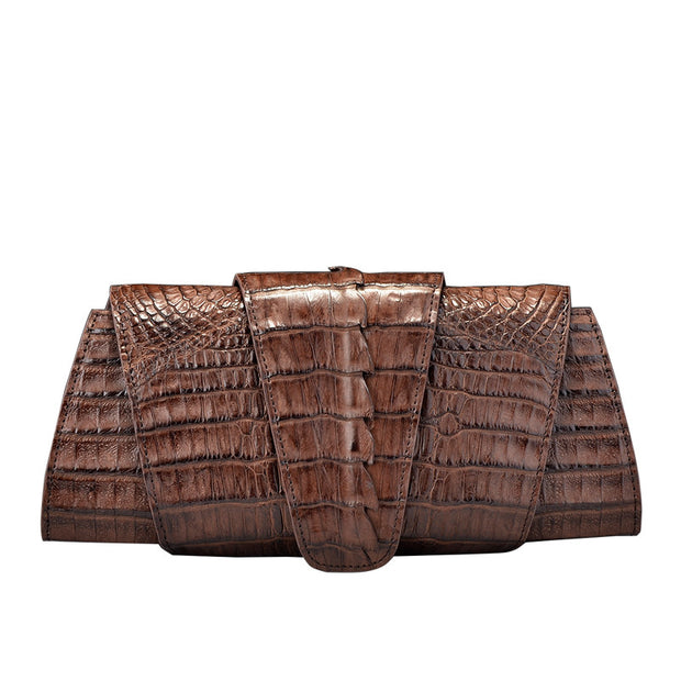 Crocodile Leather Clutch Bag