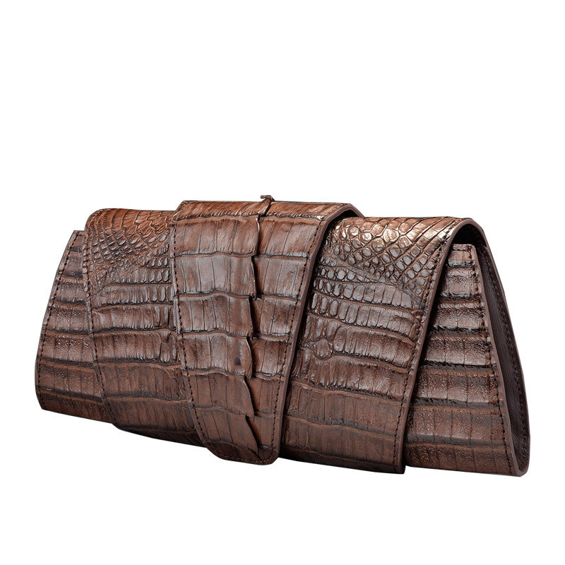 Crocodile Leather Clutch Bag - jranter