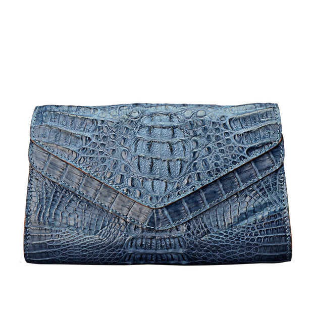 Caiman Crocodile Women Clutch Bag