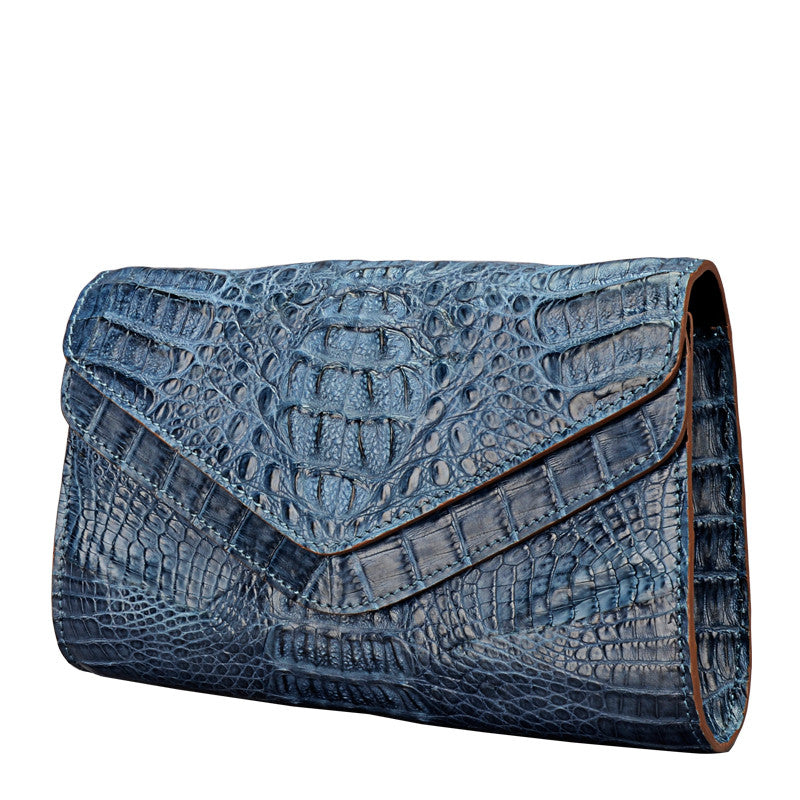 Caiman Crocodile Women Clutch Bag - jranter