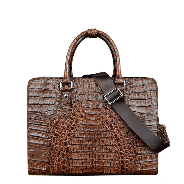 Men Croc Briefcase - jranter