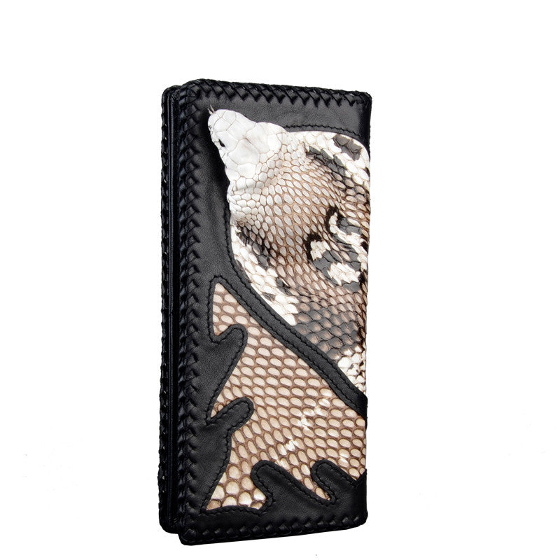 Women Cobra Skin Long Wallet - jranter