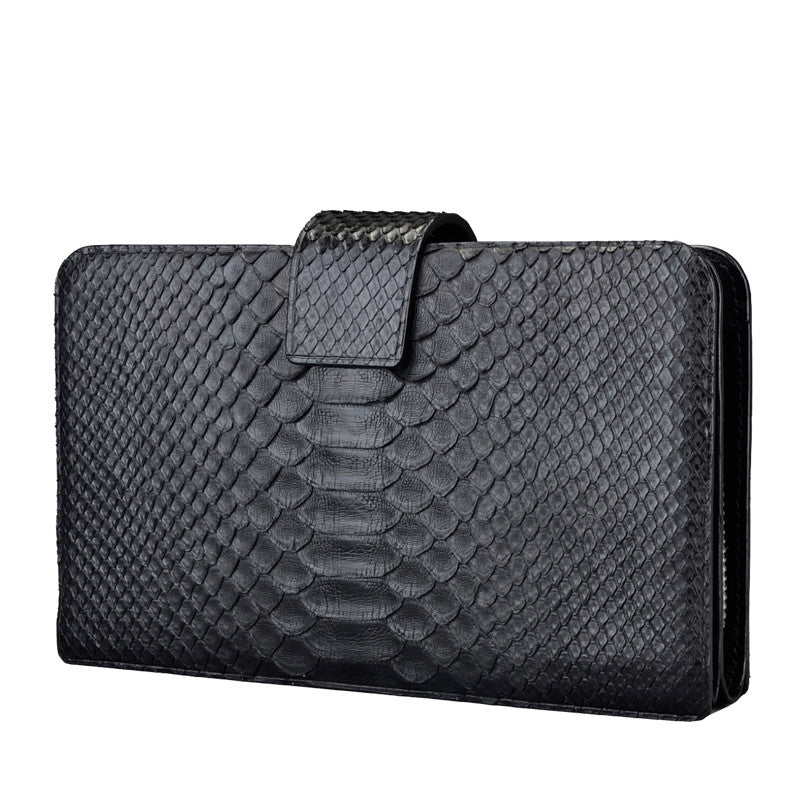 Black Python Clutch Wallet - jranter