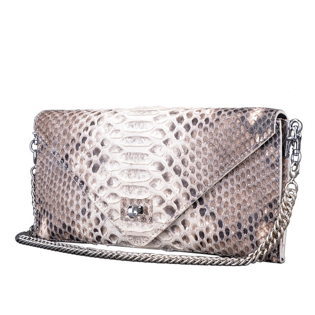 Women Real Python Skin Handbag - jranter