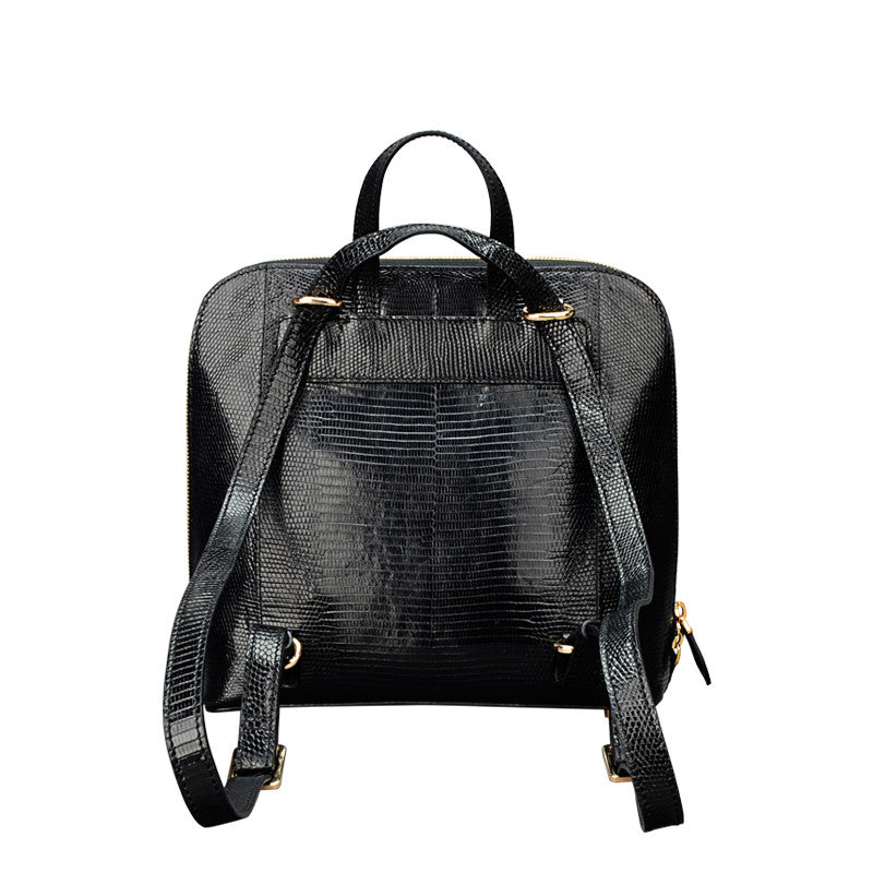 Lizard Leather Women Backpack