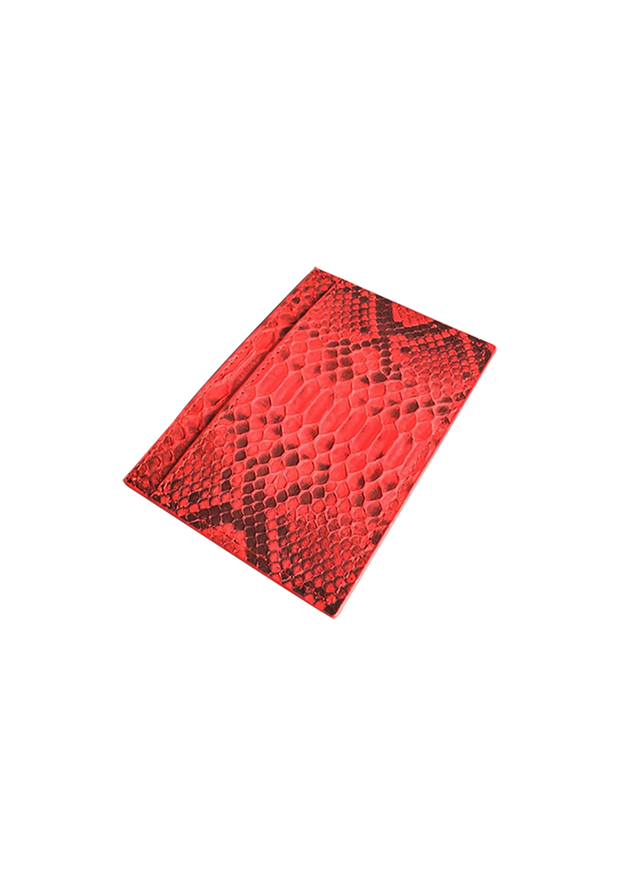 Red Real Python Skin Card Holder