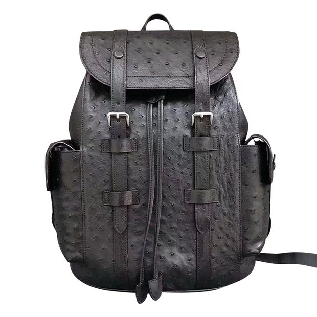 Premium Real Ostrich Leather Backpack - jranter