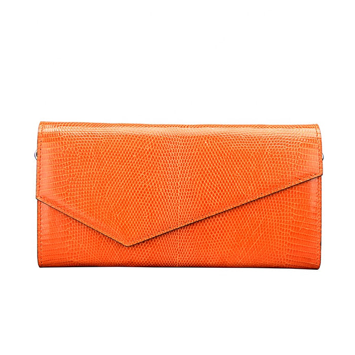 Custom Design Minimalist Women Leather Evening Clutch Bag With Chain - jranter