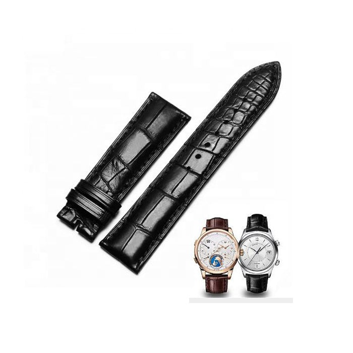 Luxury Handmade Real Crocodile Leather 18-22mm Watch Strap Wrist Band - jranter