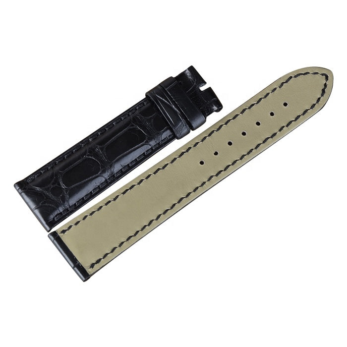 18-22mm  Handmade Real Crocodile/Alligator Skin Men/Women Leather Watch Strap - jranter