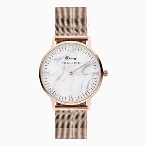 Armora Fine Rose Gold White Mesh 40mm
