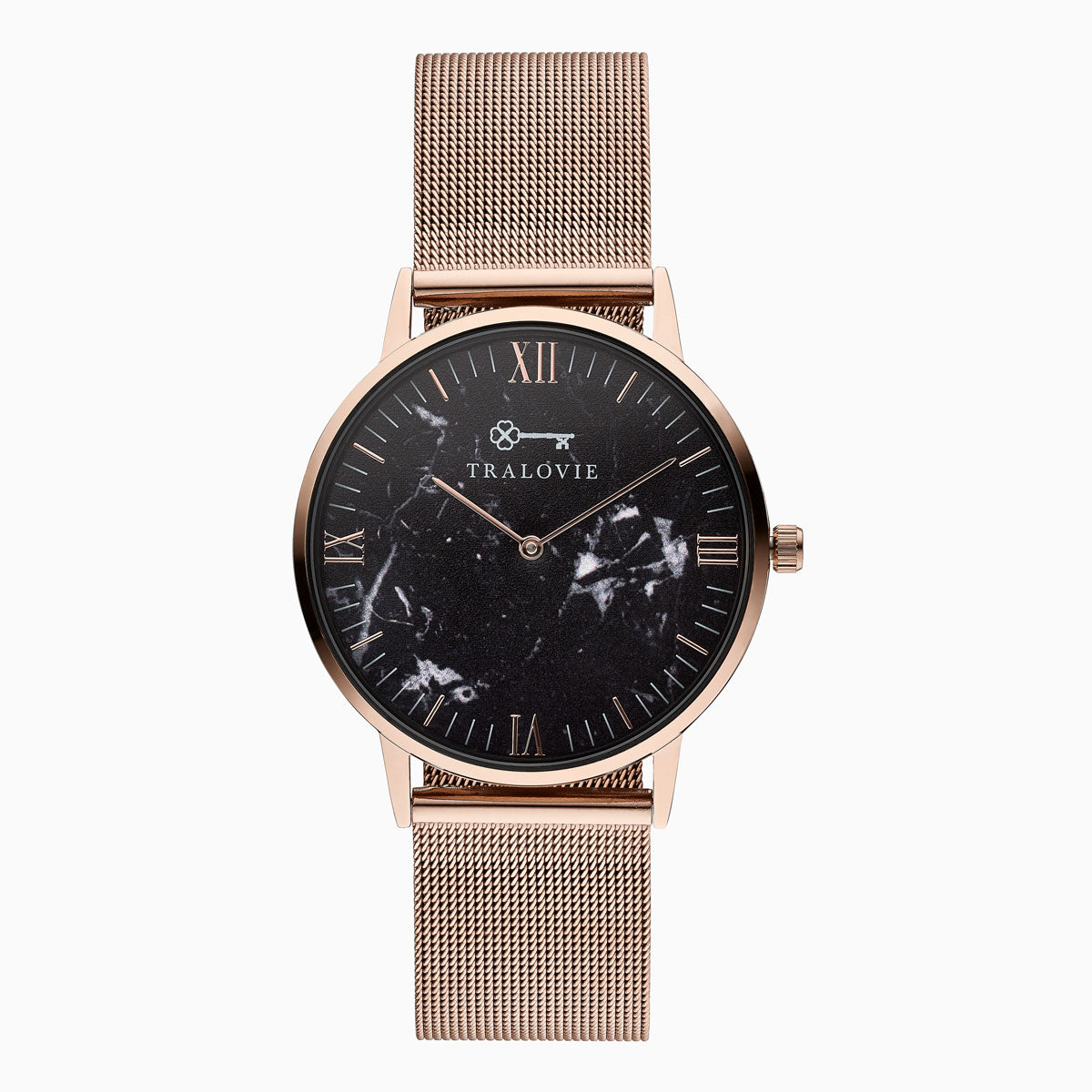 Armora Fine Rose Gold Black Mesh 40mm