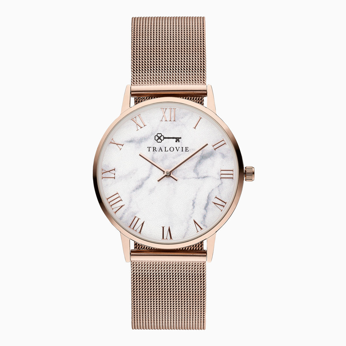 Armora Bold Rose Gold White Mesh 40mm