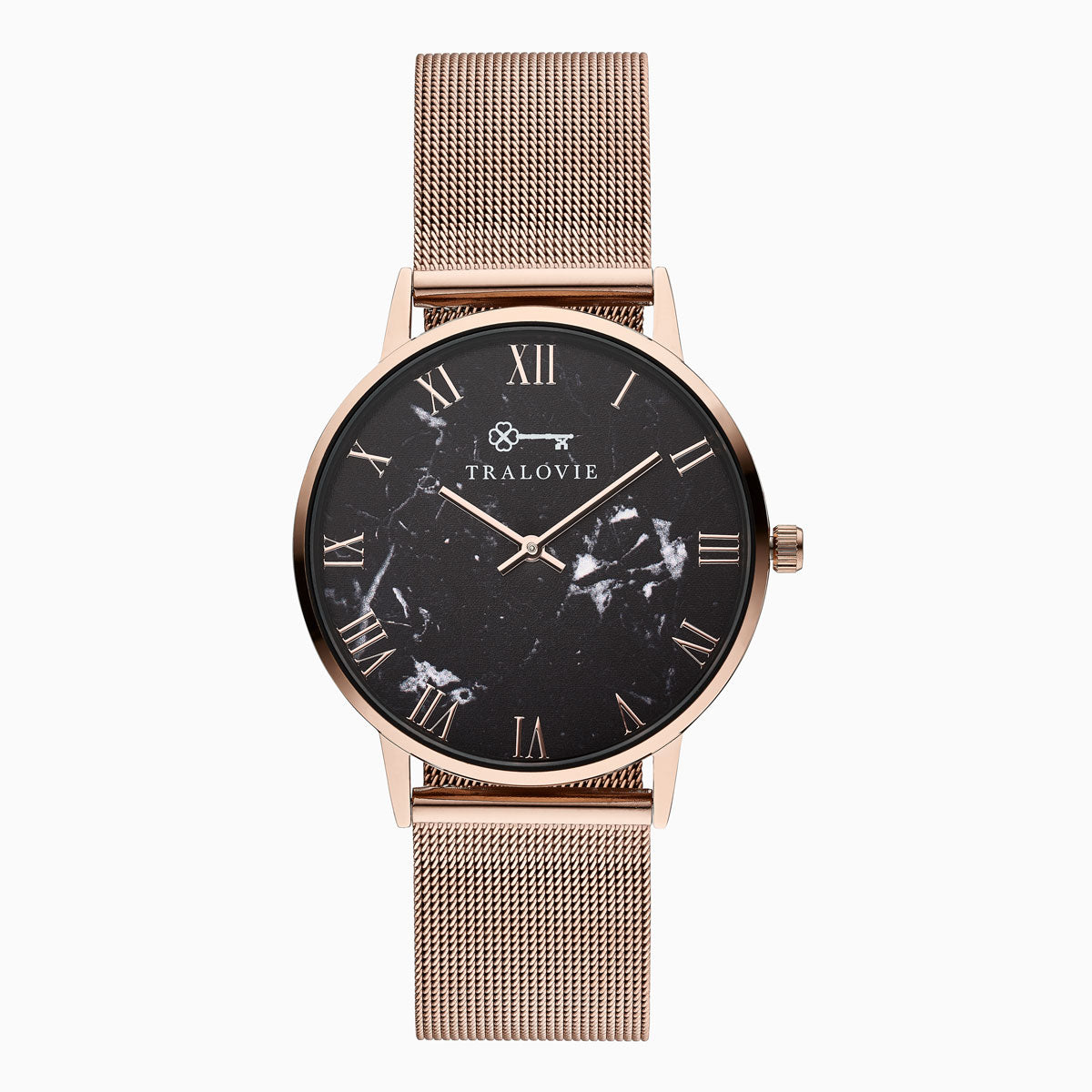 Armora Bold Rose Gold Black Mesh 40mm