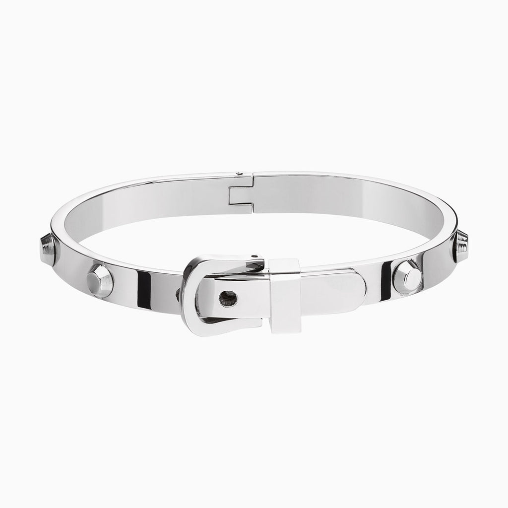 Buckle Silver Bangle
