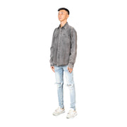 GREY OVERSIZED DENIM SHIRT