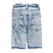 INDIGO CREASE DENIM SHORT