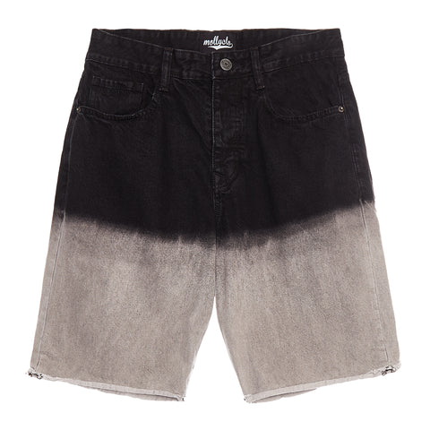 DARK GREY OMBRE DENIM SHORT