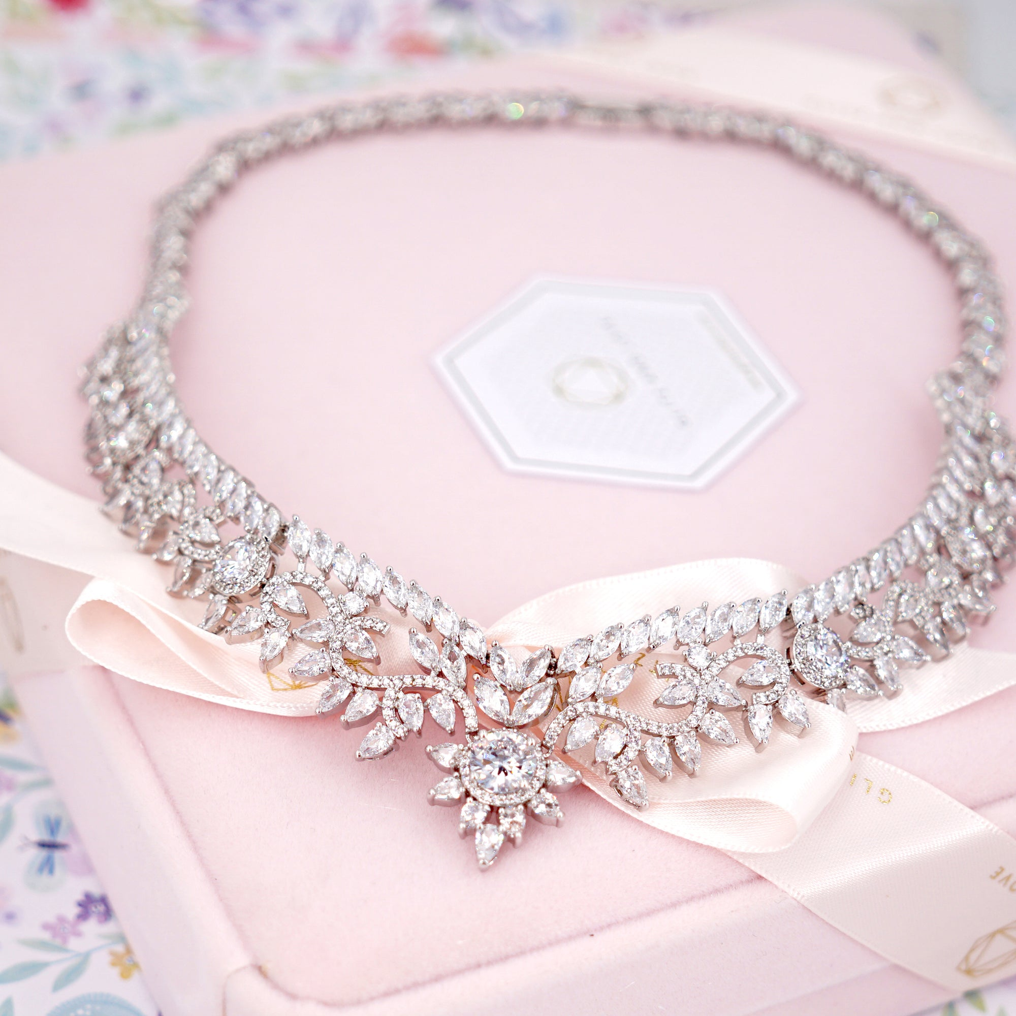 Glitz & Love | Statement Necklace for Brides | Bridal Jewelry to Impress | Elegant Timeless Confident Princess