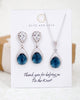 Montana Blue Teardrop Necklace and Earrings Set