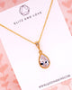 Gold Cubic Zirconia Teardrop Necklace
