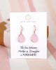 Rose Gold Pink Teardrop Earrings and Necklace