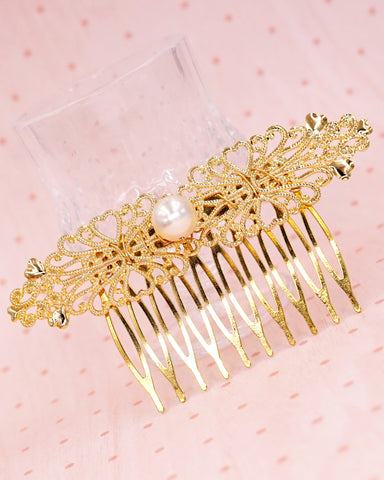 Simple Filigree Hair Comb