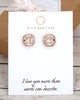 Rose Gold Light Silk Swarovski Crystal Ear Studs