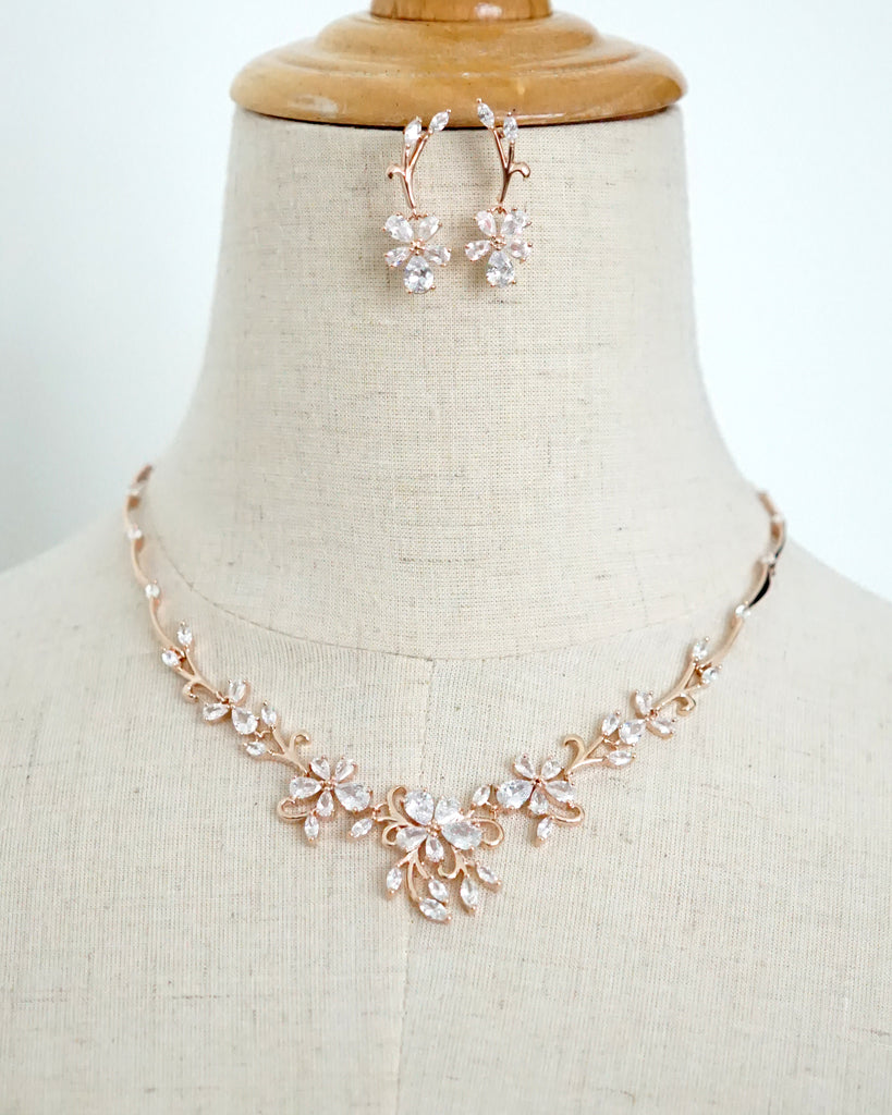 Statement Floral Backdrop Necklace