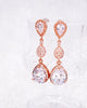 Rose Gold Luxe Teardrop Earrings