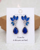 Navy Blue Art Deco Earrings