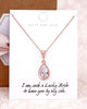 Rose Gold CZ Teardrop Jewelry Set