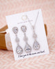 Silver Luxe Teardrop Jewelry Set