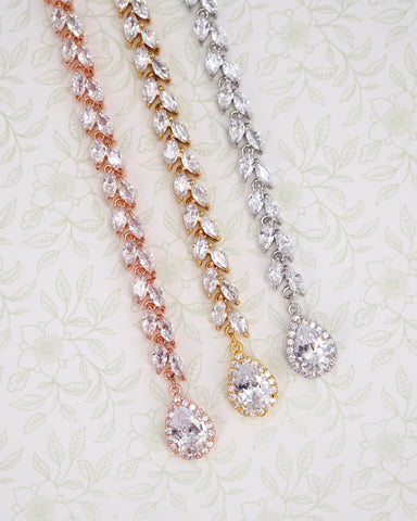 Fancy CZ Marquise and Teardrop Backdrop