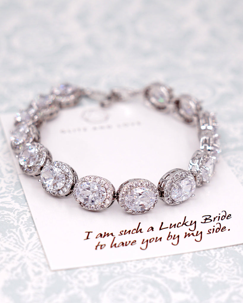 tennis rb cl zirconia bracelet cz round jewelry bridal cubic bling