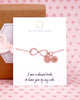 Personalized Rose Gold Infinity Bracelet
