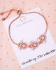 Rose Gold Art Deco Chandelier Earrings & Bracelet