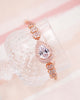 Rose Gold Halo Teardrop Bracelet