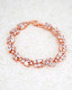 Rose Gold Cubic Zirconia Oval Set