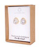 Gold Luxe CZ Teardrop Ear Studs and Necklace