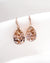 Rose Gold Swarovski Vintage Rose Crystal Earrings and Necklace | Bride Bridesmaids Jewelry