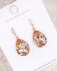 Light Silk Crystal Teardrop Earrings