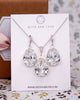 Silver Swarovski Crystal Teardrop Jewelry Set