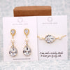 Swarovski Crystal Teardrop Gold Jewelry Set