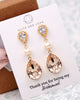 Swarovski Crystal Teardrop Gold Earrings
